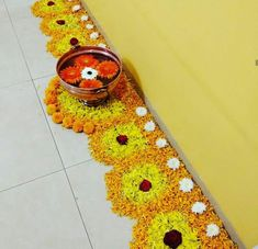 Rangoli Designs Flower, Rangoli Border Designs, Rangoli Patterns, Colorful Rangoli Designs, Rangoli Ideas, Rangoli Designs Diwali, Rangoli Designs Images, Diwali Rangoli, Flower Rangoli