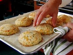 Green Onion and Cheddar Biscuits Recipe : Emeril Lagasse : Food Network - FoodNetwork.com