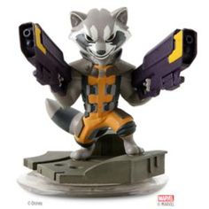 Rocket Raccoon Figure - Disney Infinity: Marvel Super Heroes (2.0 Edition) | Marvel ShopRocket Raccoon Figure - Disney Infinity: Marvel Super Heroes (2.0 Edition) - Take on enemies with heavy ranged explosive powers for tactical action. Team up with <i>The Guardians of the Galaxy</i> and create your own Marvel Super Heroes adventures with this Rocket Raccoon figure. A Disney Infinity game figure.