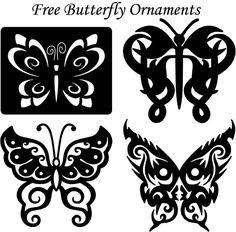 Butterfly Ornaments Decor - Free DXF files Cut Ready CNC Designs – DXFforCNC.com