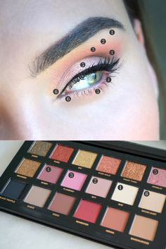 Makeuplook med Huda Beauty Rosegold Palette