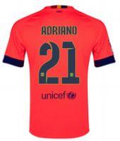 fc barcelona adriano 21 2014 15 season away pink soccer jersey