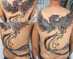60 Phoenix Tattoo Designs For Men - A 1,400 Year Old Bird Phoenix Back Tattoo, Rising Phoenix Tattoo, Phoenix Tattoo Design, Phoenix Tattoos, Tattoos For Guys, Cool Tattoos, Tatoos, Awesome Tattoos, Fenix Tattoo