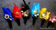 Cute boutonniere's with Alice pins in them