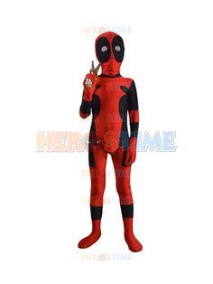 Kids Classic Deadpool Spandex Superhero Costume