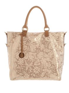 Women's Italian Luxury Gold Laminated Leather Shopper Bag