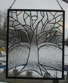 Tree Abstract Panel - Delphi Stained Glass
