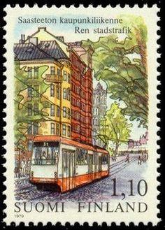 Finland - F 845 Ren stadstrafik, spårvagn, 1 kpl Helsinki, Finnish Language, Site History, Rail Transport, Good Old Times, Interesting Buildings, Fauna, Stamp Collecting, Dresden
