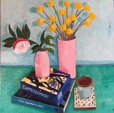 Melanie Vugich (@melanievugich) • Instagram photos and videos Button Art, Pink Peonies, Impressionism, Book Art, Photo And Video, Wood, Videos, Interior, Floral