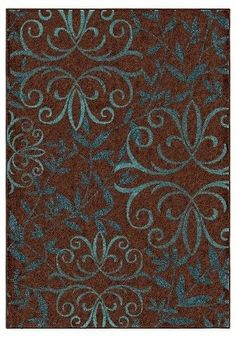 """Orian Rugs Voyager Promise Transitional Area Rug - Brown (5'2"""" x 7'6"""")"""