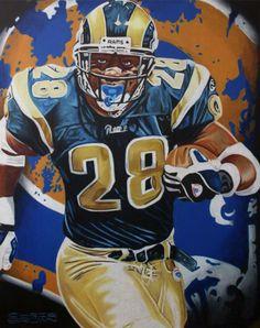 Eric Dickerson St. Louis Rams Watercolor.  rams  nfl  art if u love ... e0353bc4b