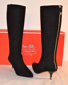 0fac165b6dc Coach Fayth Suede Black Boots size 7.5M http   www.stores.