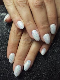 White acrylic with glitter