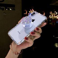 Rhinestone phone case & pop socket - 11111 new dream boarsd - Girly Phone Cases, Glitter Phone Cases, Diy Phone Case, Iphone Phone Cases, Iphone Cases Disney, Phone Covers, Modelos Iphone, Aesthetic Phone Case, Accessoires Iphone