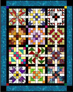 PQ BOMS  a lot of Block of the month patterns!