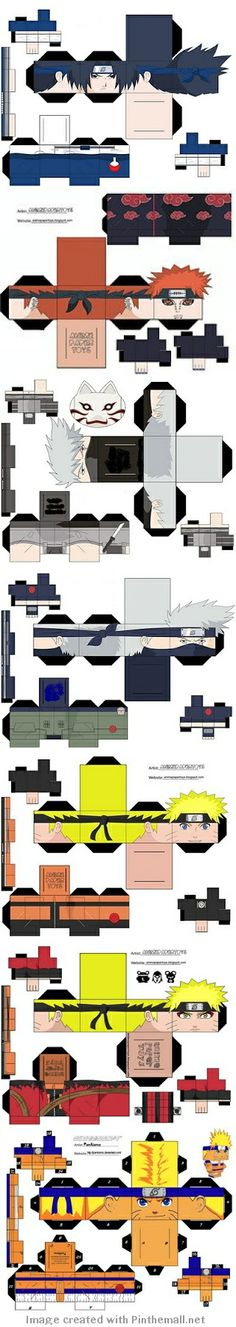 Naruto Papercraft models - created via http://pinthemall.net