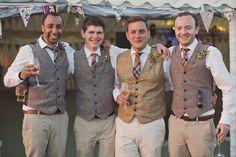 Grooms in Waistcoats | Bridal Musings Wedding Blog