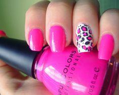 Uñas rosas-leopardo.