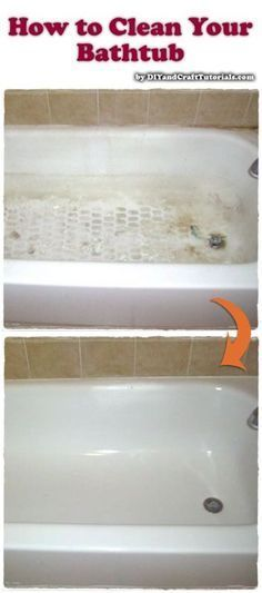 How to Clean Your Bathtub- Sprinkle 20 Mule Team Borax on a damp sponge or cloth and wipe on shower stalls, tubs, walls, and tile to remove soap scum, hard water deposits, and dirt.