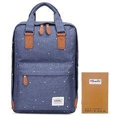 KAUKKO Cool Canvas Backpack Casual Lightweight Bag with British Fashion Blue *** You can get more details by clicking on the image. Note:It is Affiliate Link to Amazon.