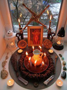 Imbolc altar 2018 / Brigid altar