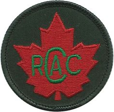 Royal Canadian Army Cadets (Green Letters 'RCAC' On Red Maple Leaf) Cadet, training or school insignia for sale Battle Dress, Canadian Army, Commonwealth, Armed Forces, Motto, Badges, Ww2, Empire, Patches