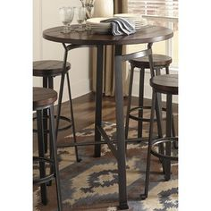 """Dube 3 Piece Pub Table Set Outstanding """"pub set ideas"""" detail is available on our website. Check it out and you wont be sorry you did. Kitchen Dining Sets, Dining Room Sets, Kitchen Tables, Outside Furniture, Dining Furniture, Modern Furniture, Bar Table Sets, Bar Tables, Outdoor Patio Bar Sets"""