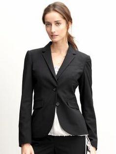 Lightweight Wool Black Blazer