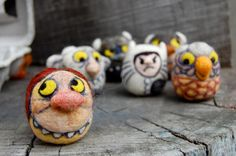 Asherjasper's set of needle felted creatures from Where the Wild Things are - http://www.etsy.com/shop/asherjasper