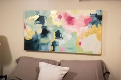 abstract painting, gold leaf art