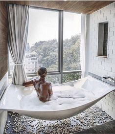I love the neat look of this tub, but I don't know if it'd be deep enough. | Pinterest | cosmicislander ✧