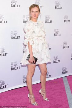 Work it: Diane Kruger looked sensational as she attended the Ballet Fifth Annual Fall Fashion Gala in New York City on Tuesday