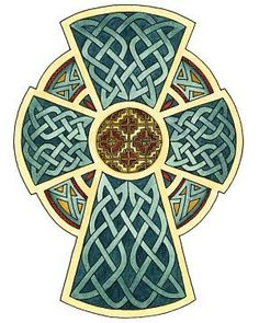 full color celtic cross design