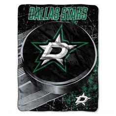 "Dallas Stars Throw Blanket NHL Soft Raschel Plush Team Logo 46"" x 60"" #Northwest #DallasStars"