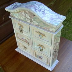 Jewelry boxShabby chic jewellery box extra large french amoire