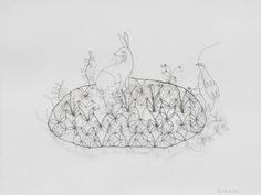 Wire sculptures by Armel Barraud - IKI galerie.