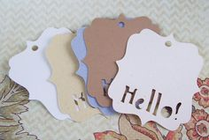 30 HELLO  2.5 x 3 inch EARRING CARDS Jewelry cards by JulryPartZ, $8.00