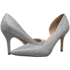 Lauren Lorraine Raquel (Silver) High Heels ($55) ❤ liked on Polyvore featuring shoes, pumps, silver, pointed toe high heel pumps, silver high heel shoes, pointed-toe pumps, pointed toe shoes and silver pointy toe pumps