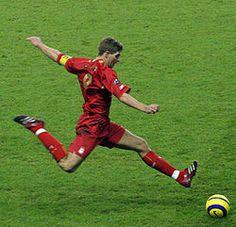 Stevie G in action! Steven Gerrard Liverpool, Liverpool Captain, Liverpool Football Club, Liverpool Fc, Alex Gerrard, Liverpool Players, Soccer Shoot, Soccer Guys, Soccer Images