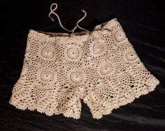 Crochet Beige bikini bottom women bikini bottom by LoveKnittings