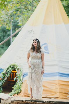 Llamas and teepees and crystals, oh my! Find ideas for your own outdoor wedding from one talented Atlanta design team.