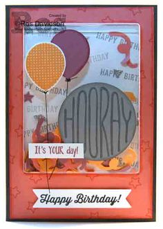 Stampin Up, confetti celebration, birthday banners, shaker card