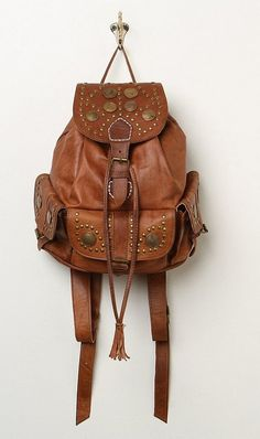 studded leather backpack. #fallmusthave