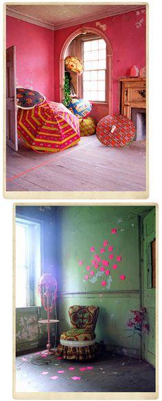 When Africa meets neon.   ~ Interiors by Irina Graewe {luv!}