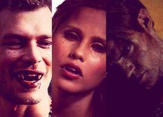 Klaus (Joseph Morgan), Rebekah (Claire Holt) & Elijah (Daniel Gillies)