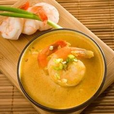 Not too heavy or spicy, this delicious seafood soup is great starter to a summer meal, or a perfect main dish for a light meal.