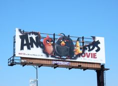 The Angry Birds Movie special cut-out billboard
