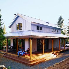 completely off grid... uses Structural Insulated Panels (SIPs) in the walls and roof. The SIPs make the house so well insulated that in five years, the Mitchells have used only 1½ cords of wood for heat. The precut panels for the walls and roof cost $24,875 from Better Building Systems (30/477-8017)