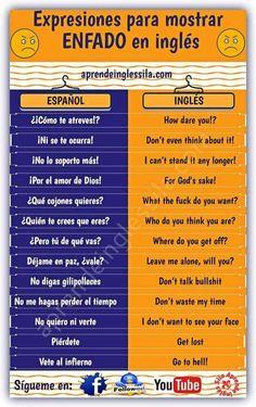 Exxpresiones para mostrar enfado en inglés