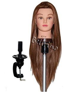 "Bellrino 26 - 28 "" Cosmetology Mannequin Manikin Training Head with Synthentic Fiber with Table Clamp Holder - Rita ** Check out the image by visiting the link."